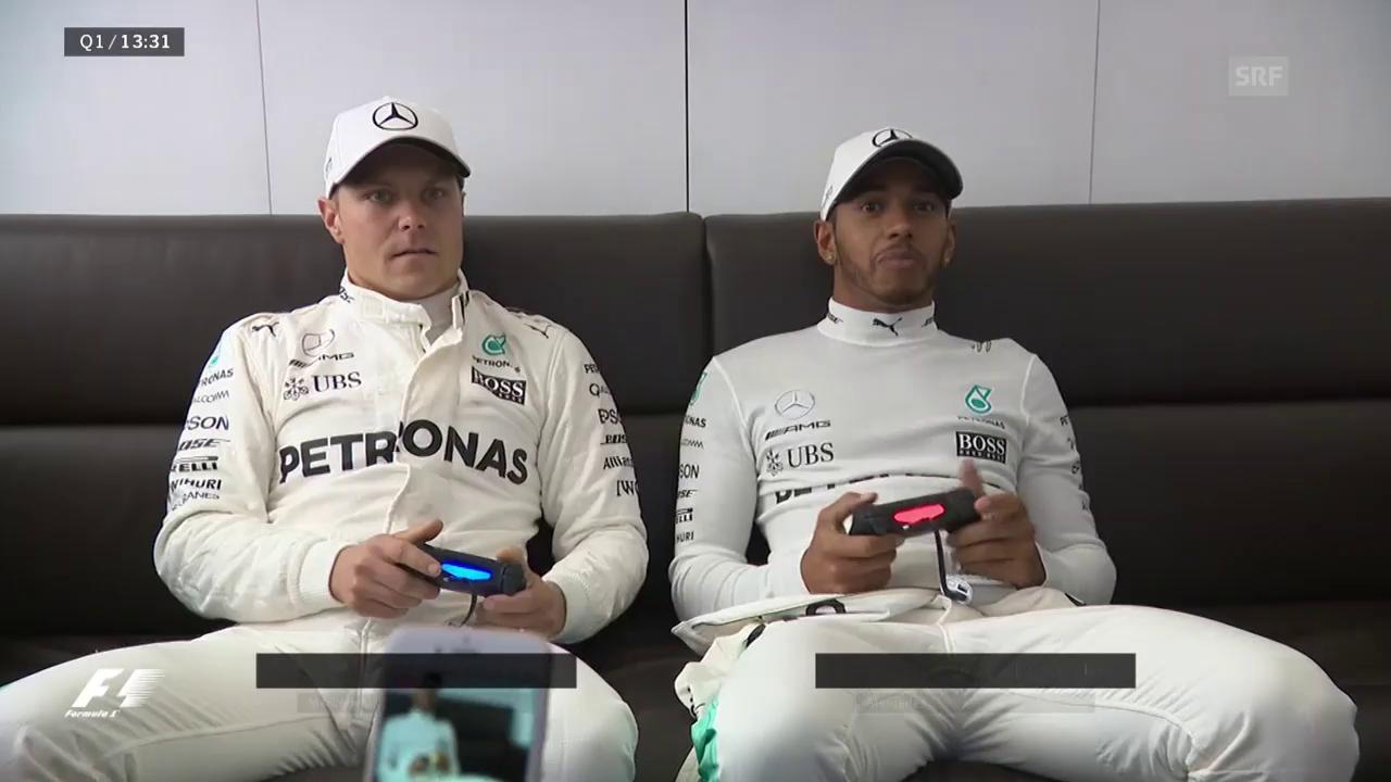 Alternativprogramm: Hamilton und Bottas zocken