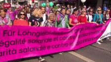 Link öffnet eine Lightbox. Video 20'000 demonstrieren in Bern für Lohngleichheit abspielen