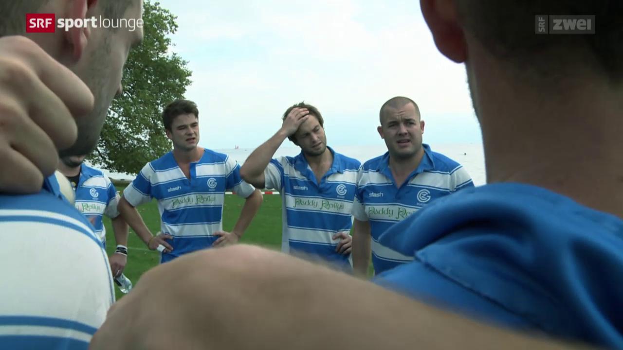 In einem Team voller Leidenschaft – Luki bei den Rugbyspielern