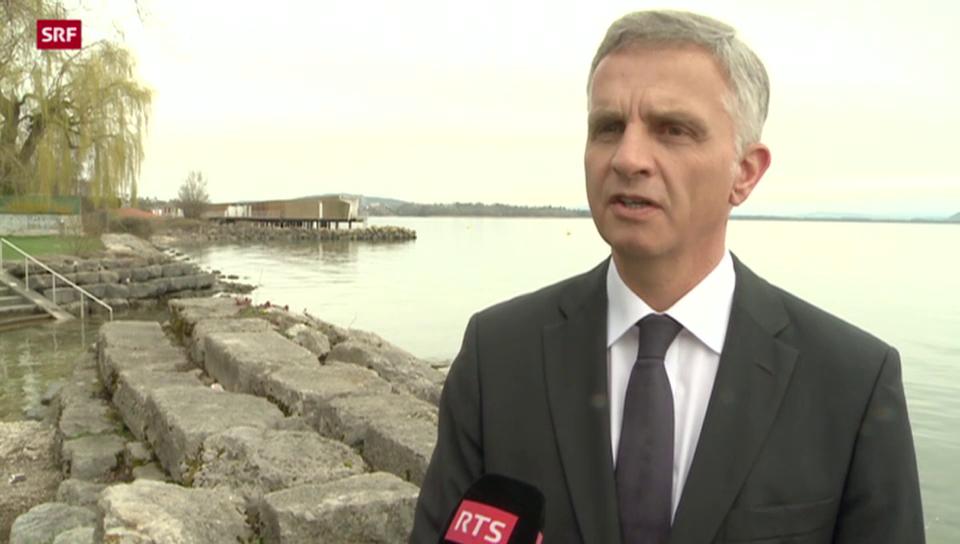 Aussenminister Didier Burkhalter zur Einigung