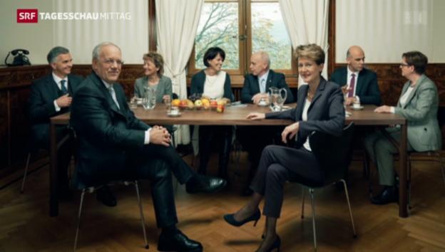 Video «Ein etwas anderes Bundesratsfoto» abspielen