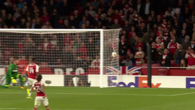 Video «Arsenal dreht nach der Pause die Partie gegen Köln» abspielen