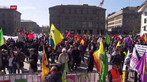 Video «Strafanzeige nach Anti-Erdogan-Kundgebung» abspielen