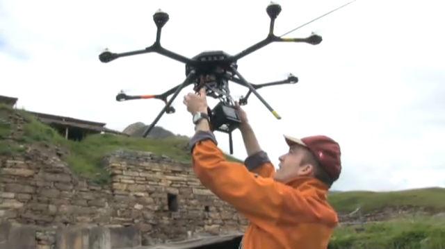 Wie ein Anden-Tempel digitalisiert wird