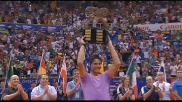 Video «Erster Titel für Nadal nach Comeback» abspielen