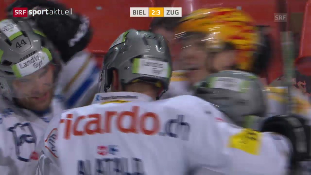 Eishockey: Platzierungsrunde: Biel-Zug («sportaktuell», 15.3.14)