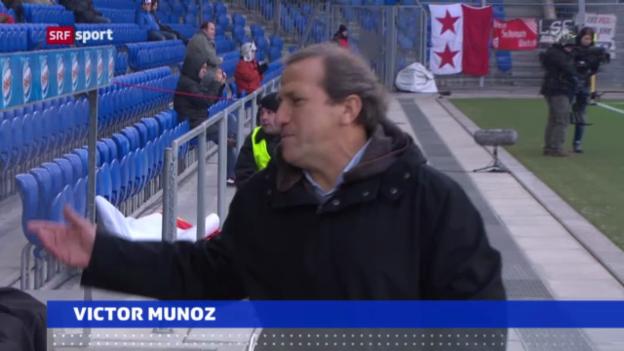 Video «Fussball: Victor Munoz will Trainerjob zurück» abspielen