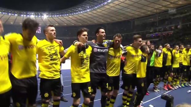 Video «3:0 gegen die Hertha: Dortmund im Pokalfinal» abspielen