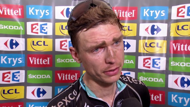 Video «Rad: TdF 2015, 4. Etappe, Siegerinterview mit Tony Martin» abspielen