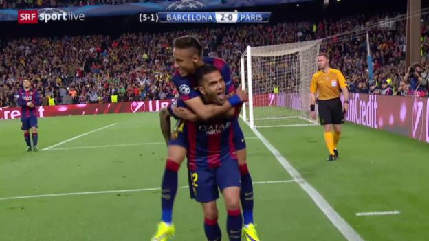 Video «Fussball: CL-Viertelfinal, Barcelona - PSG» abspielen