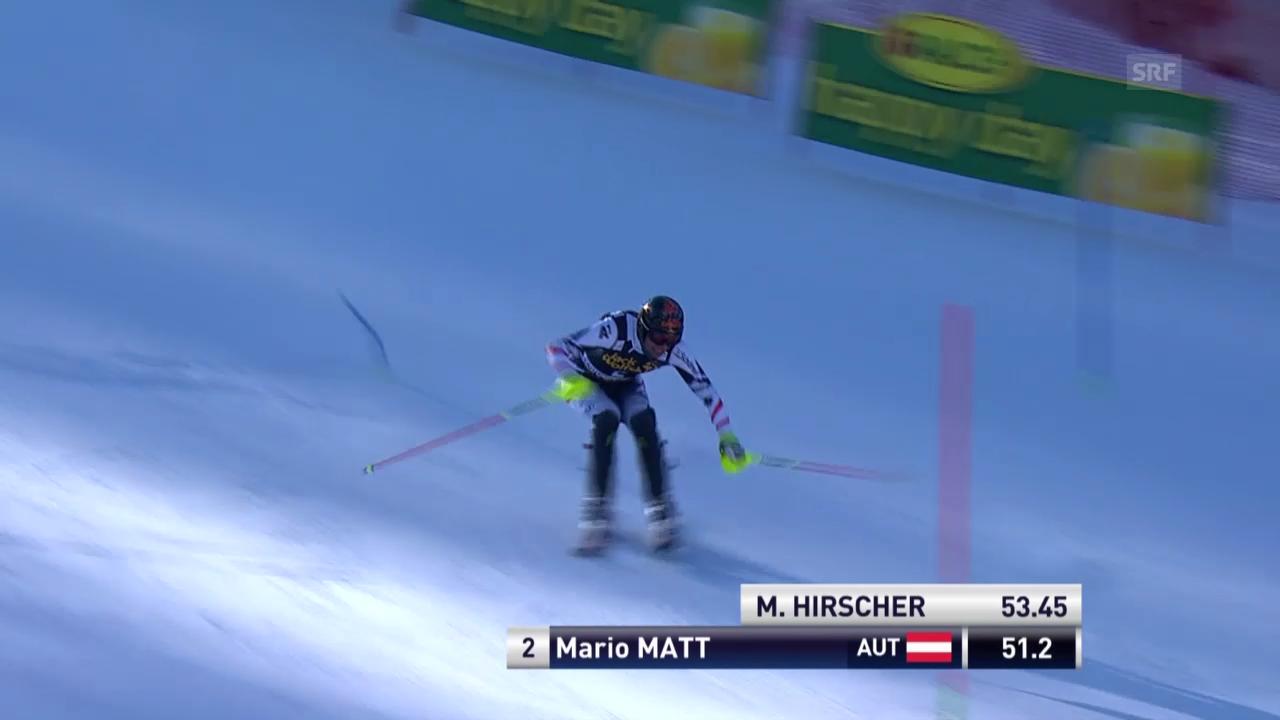 Ski Alpin: Slalom Kranjska Gora, 1. Lauf Mario Matt («sportlive», 9.3.2014)