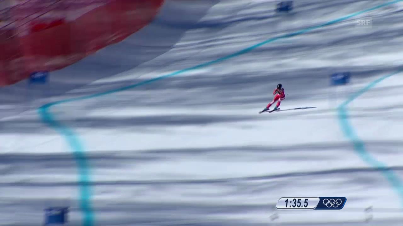 Ski: Abfahrt der Frauen, die Fahrt von Lara Gut (sotschi direkt, 12.02.2014)