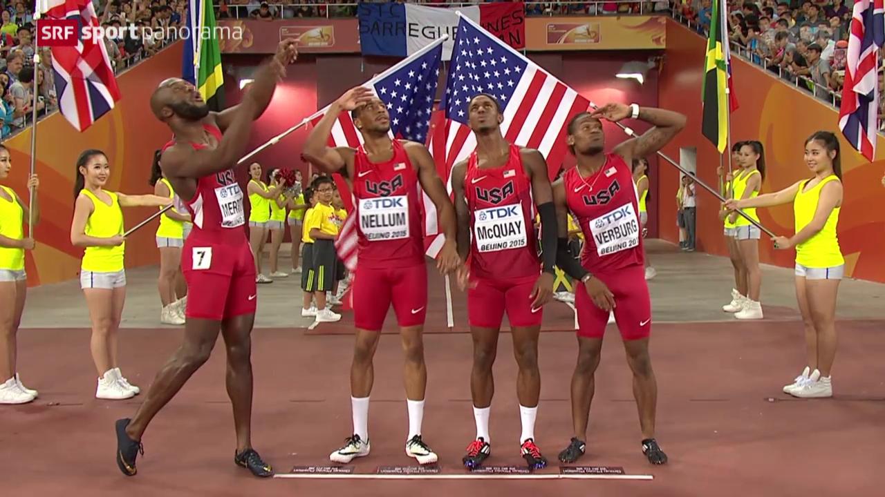 Leichtathletik: WM in Peking, Staffeln