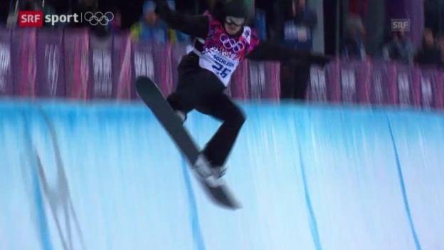 Video «Snowboard: Final Halfpipe Männer (sotschi aktuell, 11.02.2014)» abspielen