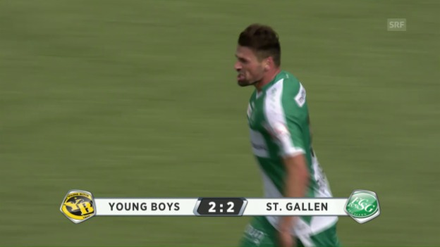 Video «Später St. Galler Punktgewinn in Bern» abspielen