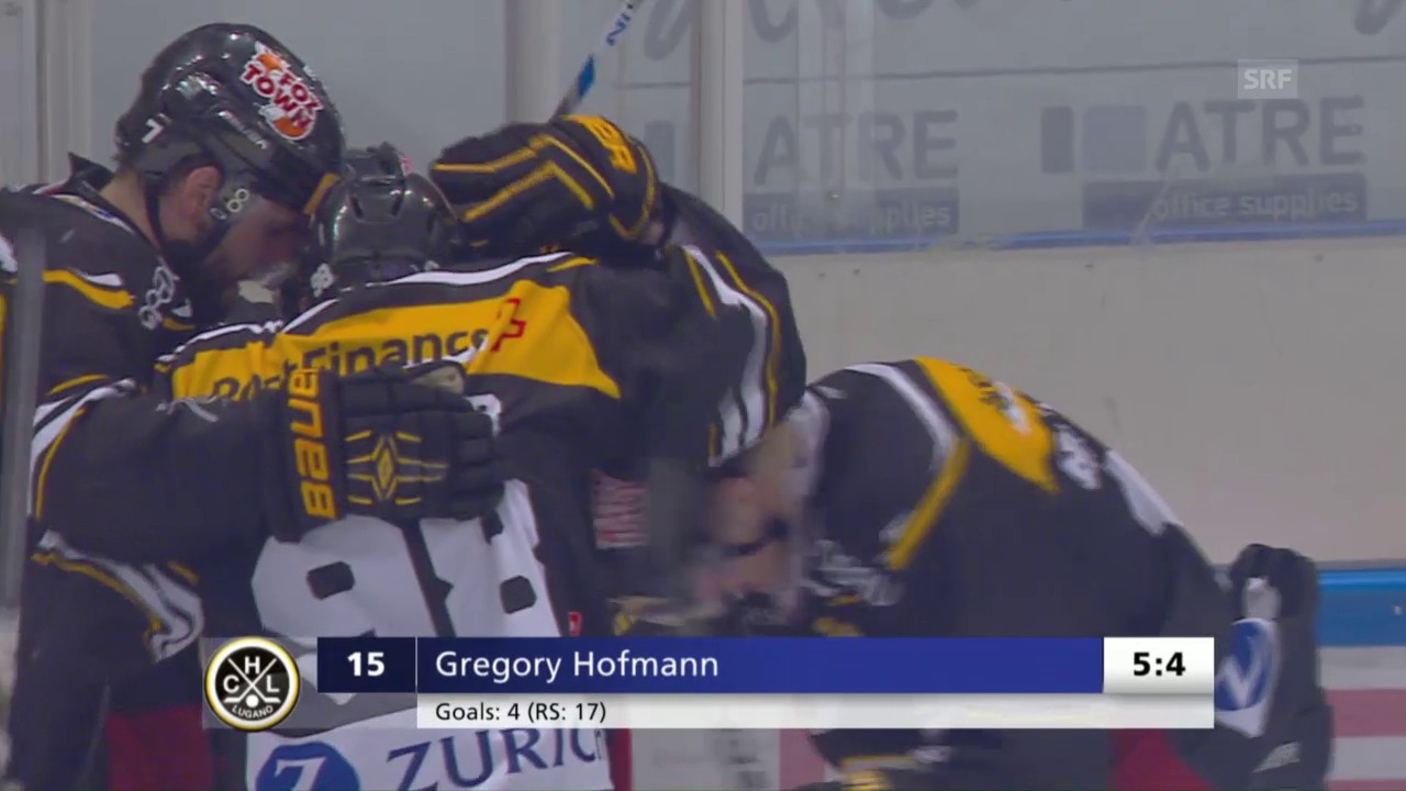 Hofmann schiesst Lugano zum Auftaktsieg im Playoff-Final