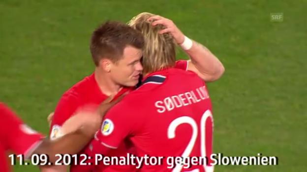 Video «Fussball: Norwegen, Nati-Szenen von John Arne Riise in der Qualifikation zur WM 2014» abspielen