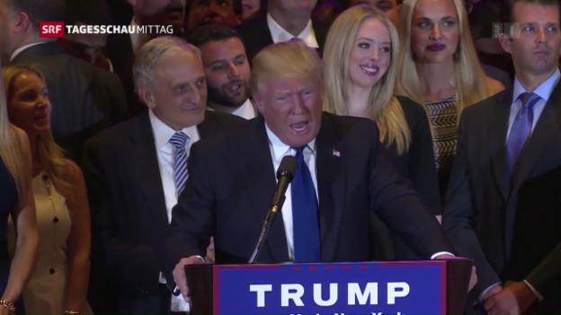 Video «Trump und Clinton bauen Vorsprung aus» abspielen