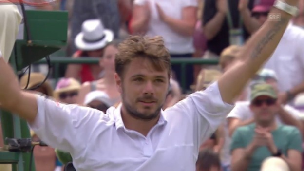 Video «Tennis: Wimbledon, Livehighlights Wawrinka - Verdasco» abspielen