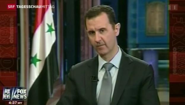 Video «Assad äussert sich zu Chemiewaffen-Plan.» abspielen