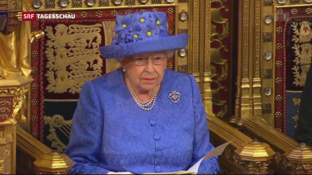 Video «Erste Sitzung unter neuem britischen Parlament abgehalten» abspielen