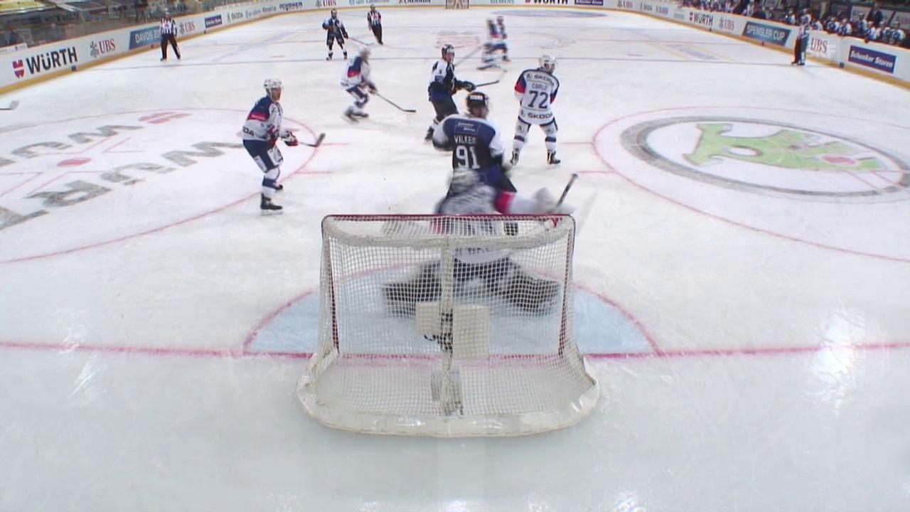 Eishockey: Spengler Cup 2015, Lugano-Adler Mannheim, 1:3 Pettersson