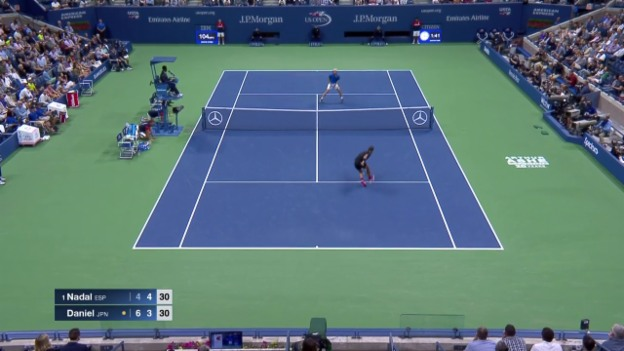 Video «Rafael Nadal pfeilschnell unterwegs» abspielen