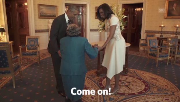 Video «Ein Tänzchen mit den Obamas» abspielen
