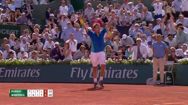 Video «Live-Highlights Wawrinka - Murray» abspielen
