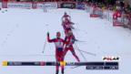 Video «Langlauf: Weltcup Davos, Skating-Sprint, Final Frauen» abspielen