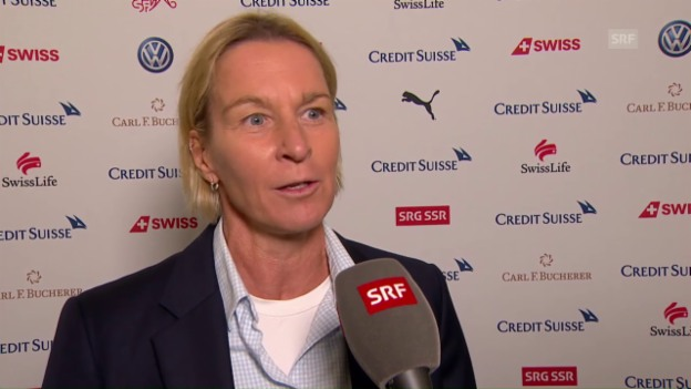 Video «Nati-Trainerin Voss-Tecklenburg: «Das ist historisch»» abspielen
