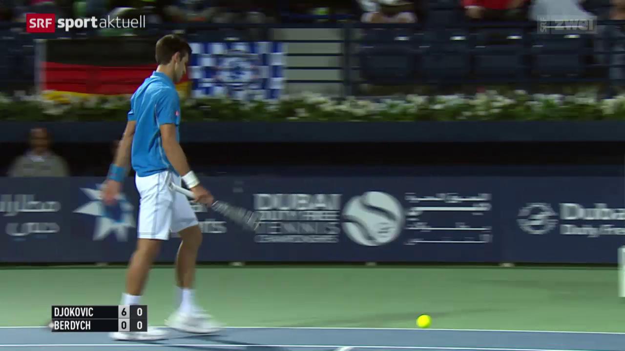 Tennis: ATP Dubai, Djokovic - Berdych