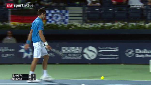 Video «Tennis: ATP Dubai, Djokovic - Berdych» abspielen