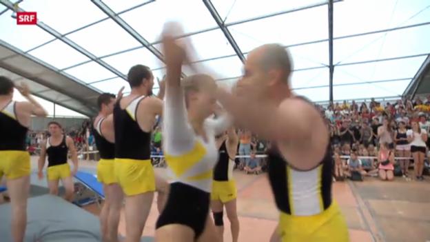 Video «Eidgenössisches Turnfest: Seriensieger Wettingen» abspielen