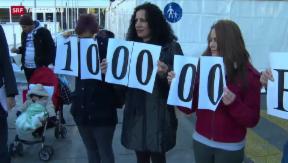 Video «Aufnahme von 100'000 syrischen Flüchtlingen gefordert» abspielen