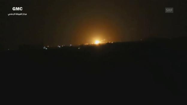 Video «Unkomm.: Explosionen am Flughafen Damaskus» abspielen