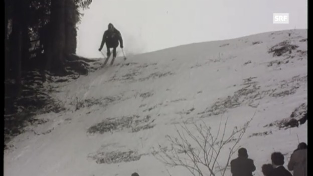 Video «1961: Abfahrtssieg von Périllat» abspielen