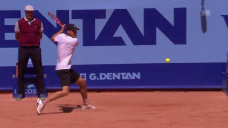 Video «Tennis: Gstaad, Final Goffin - Thiem, Backhand-Winner Thiem» abspielen