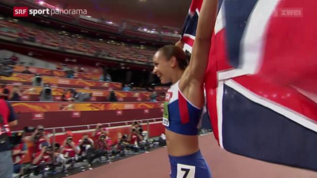 Video «Leichtathletik: WM in Peking, Siebenkampf der Frauen» abspielen