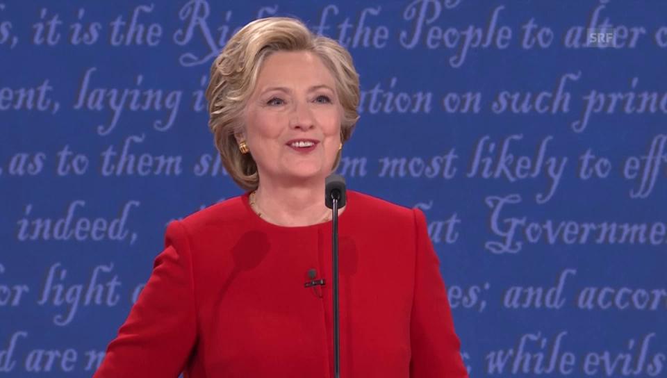 Clinton: «Nach Debatte bin ich an allem schuld»
