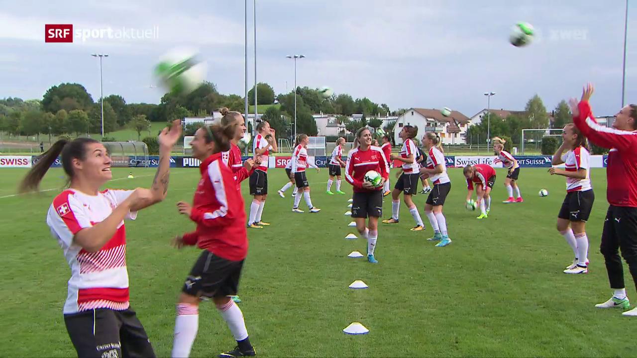 Das Nationalteam der Frauen vor dem 2. WM-Qualispiel