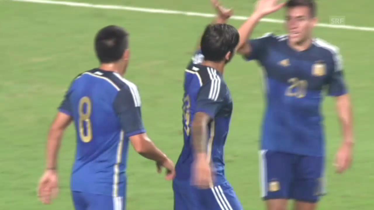 Fussball: Testspiel, Hongkong-Argentinien