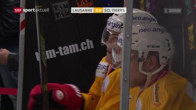Video «Lausanne mit mühevollem Sieg gegen Langnau» abspielen