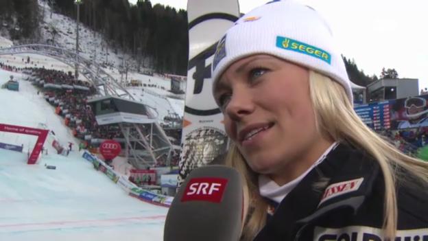 Video «WM-Slalom: Interview Hansdotter» abspielen