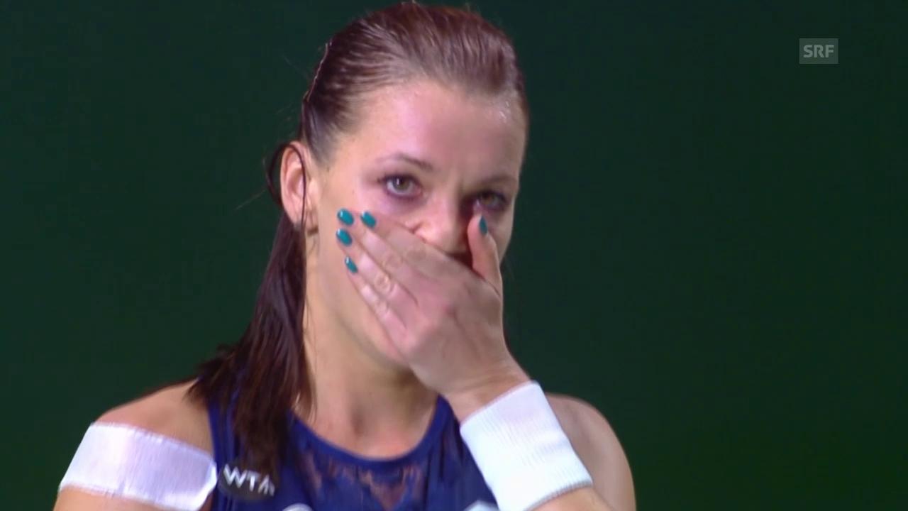 Tennis: Radwanska-Kvitova, entscheidende Punkte