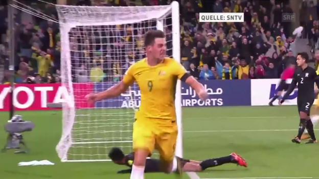 Video «Auch dank Juric: Australien bezwingt Thailand» abspielen