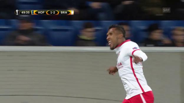 Video «Braga dreht Partie gegen Hoffenheim» abspielen