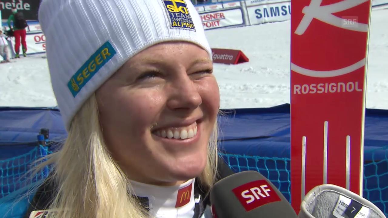 Ski Alpin: Riesenslalom auf der Lenzerheide, Interview mit Jessica Lindell-Vikarby («sportlive», 16.03.2014)