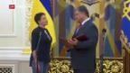 Video «Kampfpilotin kehrt aus russischer Haft nach Kiew zurück» abspielen