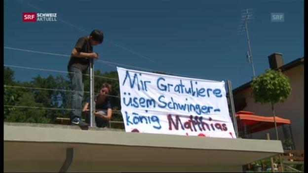 Video «Alchenstorf bereitet sich auf den Empfang des Schwingerkönigs vor («Schweiz aktuell»» abspielen